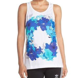 Adidas by Stella McCartney White Floral Tank sz XS